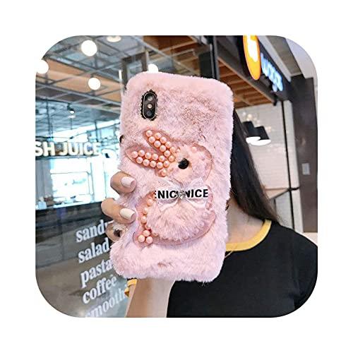 Carcasa para Huawei P40, diseño de piel sintética 3D de larga duración para Huawei Honor 9X 10i 20 10 P10 P20 P30 P40 Lite 7A Pro P Smart 2020 2021-Pink-C-Honor 10i