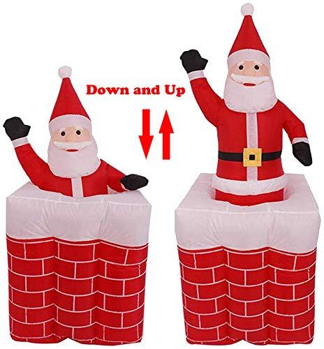 Figura de Papá Noel hinchable de 7 pies en la chimenea, decoración de navidad hinchable