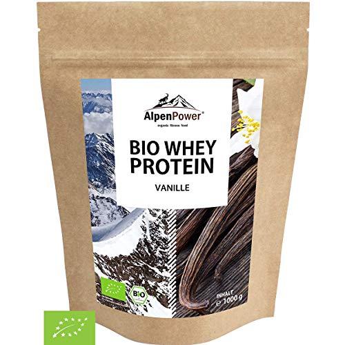 ALPENPOWER | BIO WHEY Protein Vanille | Ohne Zusatzstoffe | 100% natürliche Zutaten | Bio-Milch aus Bayern und Österreich | Superfood Vanille | Hochwertiges Eiweißpulver | 1000 g