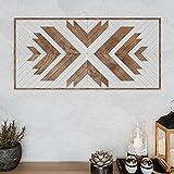 Other Furniture Native Wood Wall Art- Farmhouse Wood Wall Panel - Wood Wall Art Geometric- Rustic Wood Wall Hanging - Boho Wooden Wall Art