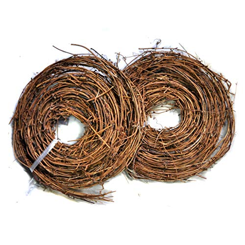 Ougual DIY Crafts Natural Grapevine Twig Garland Wreaths Decor 15-Feet