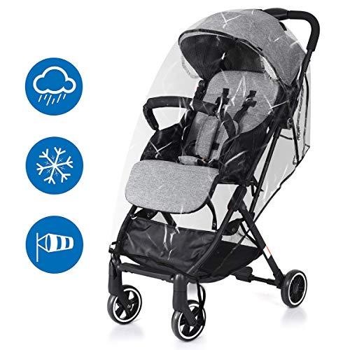 Mture Kinderwagen Regenschutz, Universal Regenschutz Gute Luftzirkulation, Schadstofffrei, hochklappbar für einfachen Ein- und Ausstieg passend für jeden Kinderwagen - Transparent