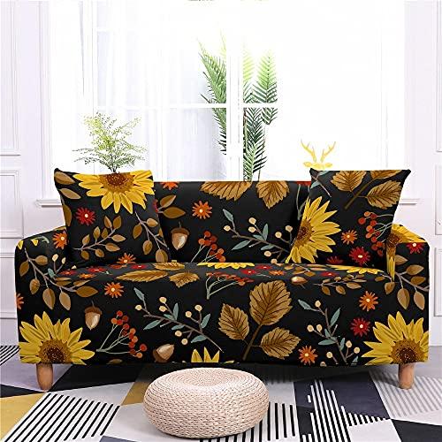 WXQY Funda de sofá elástica con Estampado Floral para Sala de Estar Funda de sofá de Spandex en Forma de L Funda de sillón Funda de sofá Antideslizante A7 4 plazas