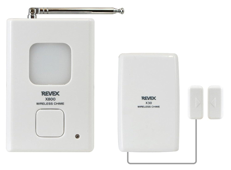 リーベックス(Revex) ワイヤレス チャイム Xシリーズ 送受信機セット 防犯 ドア窓チャイムセット X830