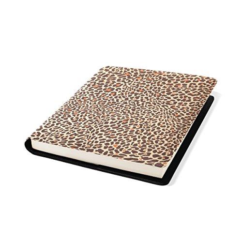 COOSUN Motif Leopard Background Sox Book Cover Stretchable Livre, La Plupart des Fits Relié jusqu'à 9 manuels x 11. adhésif Gratuit, PU Leather School Book Protector 9 x 11 Pouces Multicolore