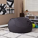 Flash Furniture Gray DG Large GY-GG Oversized Solid Bean Bag Chair for Kids and Adults