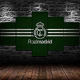 AWER leinwand wandkunst 5 panels Real Madrid