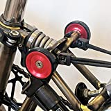 ACEOFFIX For BROMPTON 45mm Lightweight Easy Wheels + Titanium Bolts in Bronze RED