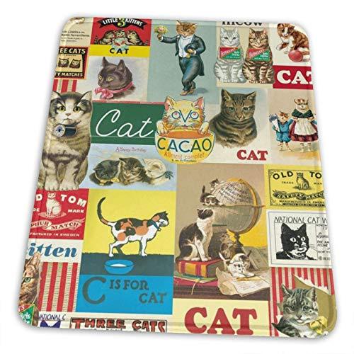 DPQZ Alfombrilla de ratón de 7.9 x 9.5 pulgadas, diseño de gato vintage divertido póster de gatos para ordenador portátil, teclado, alfombrilla de ratón, accesorios