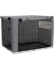 Jurong osłona na kennel dla psa, wytrzymały poliester, wiatroszczelna osłona do użytku w domu i na zewnątrz, akcesoria dla zwierząt, pasuje do większości klatek kennelowych dla psów, tylko osłona, kolor szary