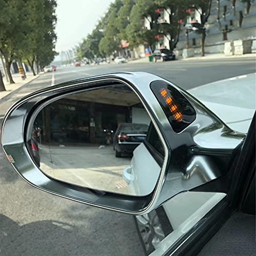 NkeGS Cubierta de Espejo de Estilo de Coche, para Audi A6 C7 S6 RS6 2013+ Tapa de protección de Cubierta de Espejo retrovisor Plateado Cromado Mate