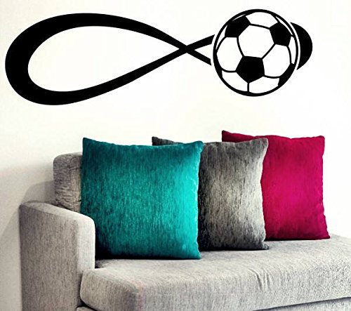 Infinity voetbal? Voetbalspeler, sport, love sweetheart Home Live Life samen Kids Funny citaat muur Stikers, inspirerende citaat, motivatie sticker muur citaat sticker muur kunst, familie fun citaat Love Home