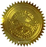 Geographics Gold Foil Certificate Seals, Embossed, Set of 100 (20014)...