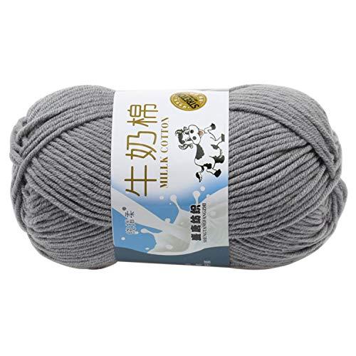 Petalum Baumwollgarn Soft Weich Baumwolle Garn Handstrickgarn, Häkelgarn, Babygarn in Unifarben zum stricken Häkeln