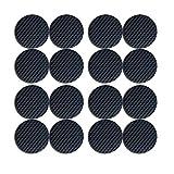 Almohadillas para muebles Almohadilla de fieltro autoadhesiva Almohadillas para muebles de fieltro marrón 4 mm de grosor Protectores de piso antiarañazos para mantener (Redondo 38MM 16PCS Negro)