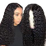 Pelucas parte media lace front wigs curly pelucas mujer pelo natural humano largo peluca rizada 100% mujer onduladas pelucas de pelo humano remy 150% densidad 16 inch