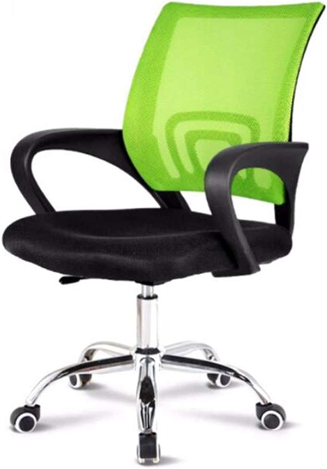 JJSP Restaurant office game swivel chair, ergonomic redating mesh table and chairs, chair with wheels and lifts ( color   Green )