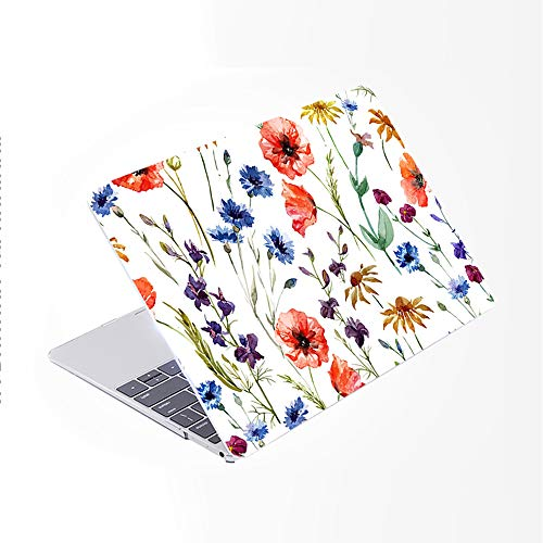 SDH for MacBook Air 13 Inch Case 2020 Release A2179 with Retina, Plastic Pattern Hard Shell & Laptop Sleeve Bag & Keyboard Cover for MacBook Air 13 with Touch ID, Plant Leaves 9
