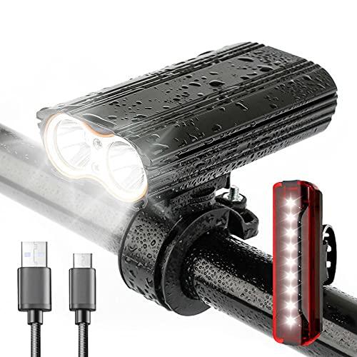 Lanxincheng 2400 Lumen Wasserdicht MTB Fahrrad Mountainbike Licht USB Wiederaufladbar 4 Modi Frontbeleuchtung Led Lampe Leistungsstark Für Jedes Fahrrad MTB
