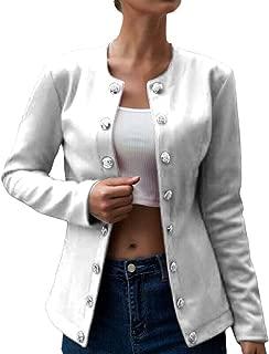 ShinyAmber Donna Maniche Lunghe Aperto Davanti Colletto Cappotto Elegante Ufficio Business Blazer Top Gilet OL Giacca Cardigan Casual Autunno Invernali Camicia Vestito Abito