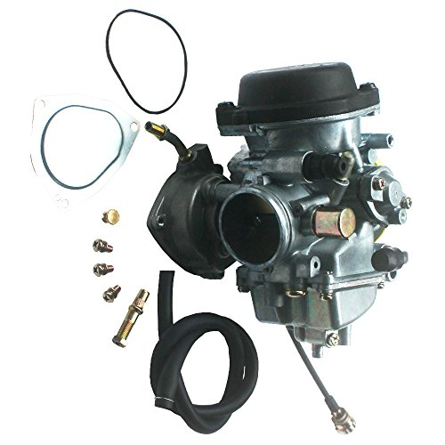 KIPA Carburetor For Suzuki LTZ400 LTZ 400 Quadsport 2003-2007 Arctic Cat DVX400 2004-2007 Kawasaki KFX400 2003-2006 with Vacuum Pipe