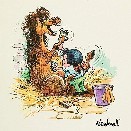 Horse Grooming Thelwell Pony Greeting Card With Sound This Is 15cm X In