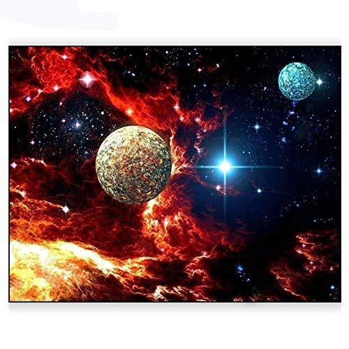 Carré Bricolage Diamant Rond Peinture Planète Interstellar Space Point De Croix Diamant Mosaïque De Diamant De Motifs De Broderie En Strass (Size : Square drill 55x70cm)