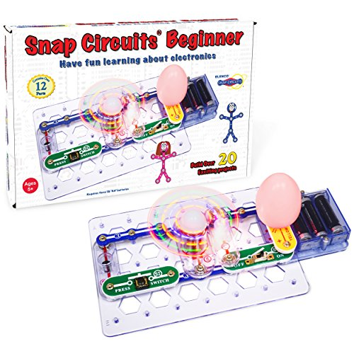 Snap Circuits Beginner, Electronics Exploration Kit, Stem Kit For Ages 5-9 (SCB-20)