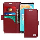 FYY [Genuine Leather] Wallet Case for Samsung Galaxy S8+ Plus 2017, Handmade Flip Folio Wallet Case with Kickstand Card Slots Magnetic Closure for Samsung Galaxy S8+ Plus 2017 Wine Red