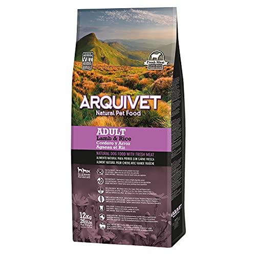 Arquivet Adult Cordero y Arroz - 12 kg - Pienso Natural para Perros Adultos de Todas Las Razas - Alimento seco - Pienso Super Premium Carne Fresca - Salud Pelo, Piel, Huesos y articulaciones