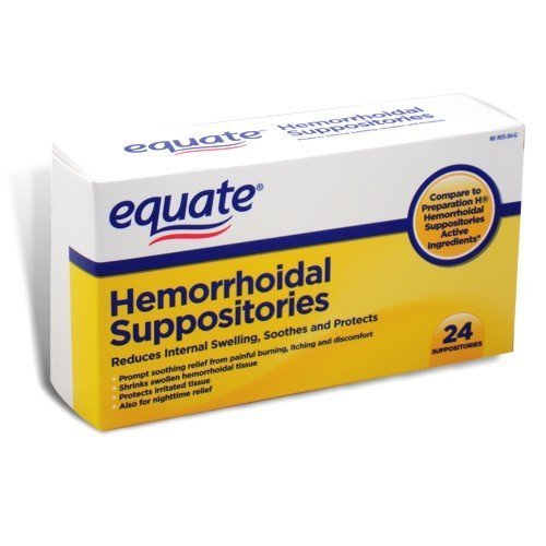 Equate Hemorrhoidal Suppositories 24 Ct by Equate