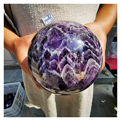 YSJJOSX Piedra Mineral Natural Natural Dream Amathyst Esfera Cristal Bola de Cuarzo Gema Piedra curación (Size : 900-1000g)