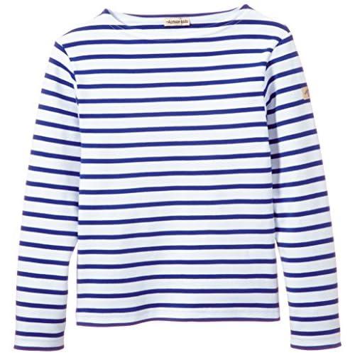 Armor Lux K1866 T-Shirt, Bianco(Blanc (Dw5 Blanc/Étoile), Taglia Produttore: 10 Ans Bambine e Ragazze