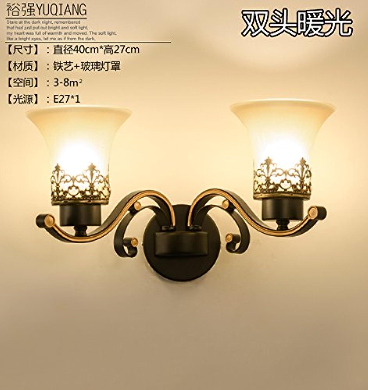 StiefelU LED Wandleuchte nach oben und unten Wandleuchten Schlafzimmer Wand lampe Nachttischlampe Bügeleisen antike Wandleuchten Verkehrskorridor, Dual Head, warmes Licht LED-Lichtquelle