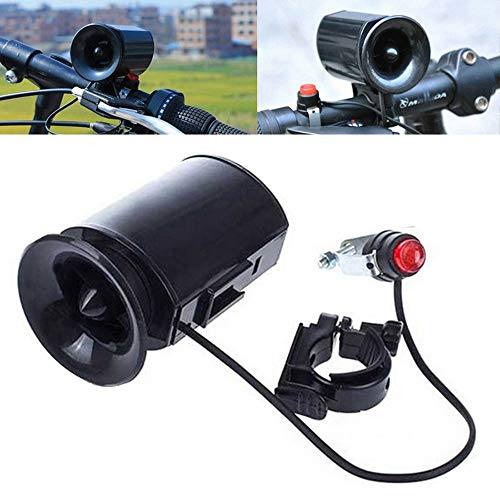 Turbobm 6 Sounds Ultra-Laute elektronische Fahrradklingel Fahrrad Hupe Sirene andlebar Ring Strong Loud Alarm Bell Safety Siren Ultra-Loud Bike Horn, Bicycle Bike Bell