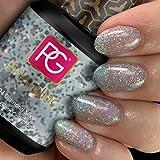 Color de pintauñas permanente Pink Gellac 204 Diamond Silver. Esmalte de gel, calidad profesional y fácil aplicación en casa. Esmaltes de uñas.