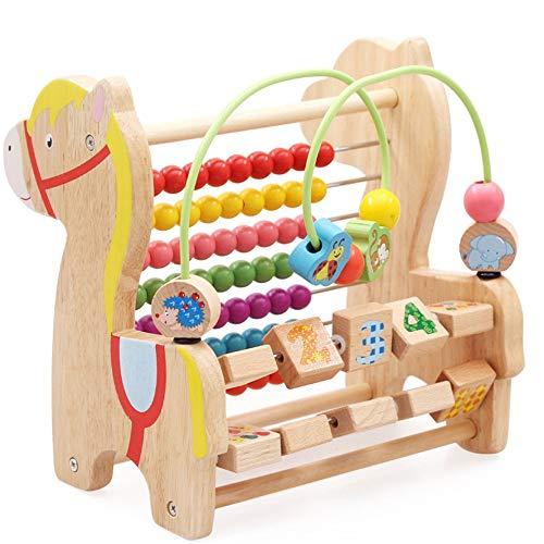 Actividad Cube Bead Maze Bead laberinto juguete rodillo montaña preescolar niños Educación temprana Juguete Pensamiento lógico para niños niñas bebé regalo ( Color : Multi-colored , Size : One size )