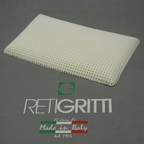 RETI GRITTI Almohada Baby Memoryfoam apta para niños de 3 a 9 años-80 x 40 x 7,5 cm – perforada