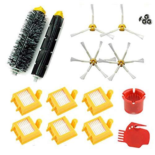 Ersatzteile für iRobot Roomba 700 Series Ersatz, Seitenbürste, Filter, Walzenbürste Ersatzkit Zubehör für iRobot Roomba 700 760 765 770 772 775 776 776P 780 782 785 786 Series