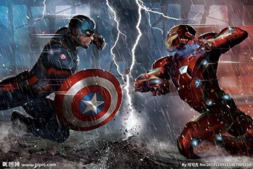 Custom 3D Captain America Avengers Boys Bedroom Photo Wallpapers Marvel Comics Kids Room Interior Design Room Decoration