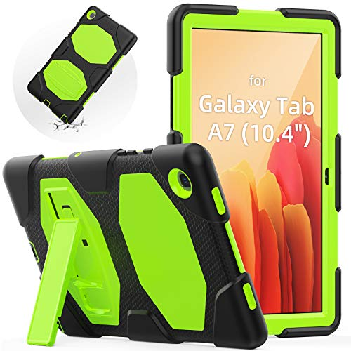 SEYMAC Samsung Galaxy Tab A7 2020 Case Kids, SM-T500/SM-T505 Case, Durable Shockproof Case with S Pen Holder, Built-in Stand for Samsung Tab 10.4, Green