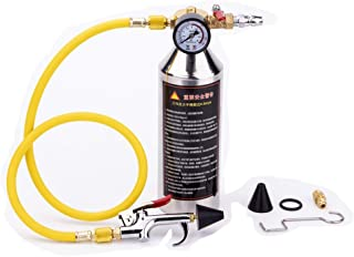 CHEEFULL Car Air Conditioning Pipe Cleaning Bottle Flush Kits,A/C System Components Canister Maintenance Clean Tool Kit for R134a R12 R22 R410a R404a