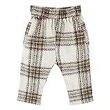 Small Rags, Mädchen Baby- und Kinder Hose, 100% Rayon, Beige/Grün-Schwarz-Braun, Gr. 68, Bay Pants Silver Birch 60225