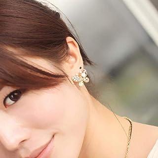 Erin Earring Accessori di Gioielli Classici in Cristallo Colorato Vuoto con Orecchini A Farfalla con Perle di Simulazione ...