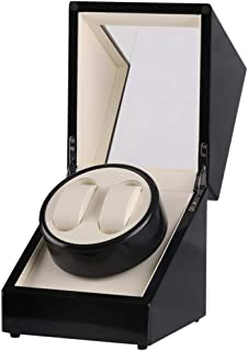 Watch Automatic Winding Motor Rotating Watch Box Watch Organizer Case- 2 Slots Watch, Fashion Watch (Color : Black)