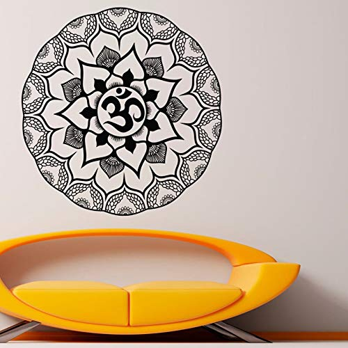 Uiewle Indian Mandala Wall Decal Vinyl Floral Pattern Wall Sticker 68x70cm