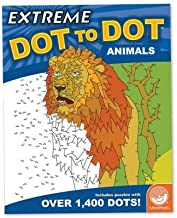 MindWare  Extreme Dot to Dot Animals Book  Puzzles Range from 300 to over 1,400 Dots  Features 8 2-Page Spreads