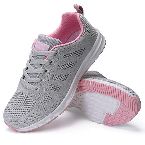 FUDYNMALC Walking Shoes for Women Lace Up Casual Comfort Non Slip Lightweight Breathable Mesh Athletic Sneakers Fashion Tennis Sport Running Shoes
