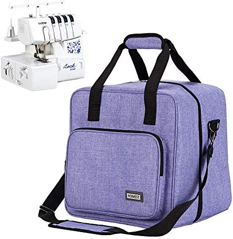HOMEST Serger Carrying Case Universal Overlock Sewing Machine Tote Bag with Shoulder Strap Strong product image