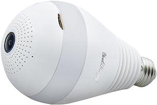 LEDMOMO Bombilla de la cámara del LED 360 grados de la casa panorámico de la seguridad de la casa del bulbo de la aplicación teledirigida para el sistema de Android iOS